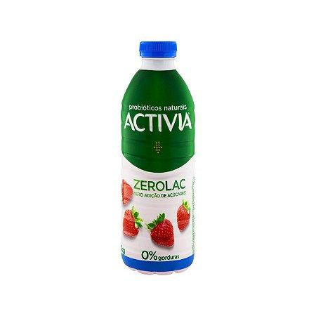 Leite Fermentado Danone Activia Morango Zero Lactose 1000g