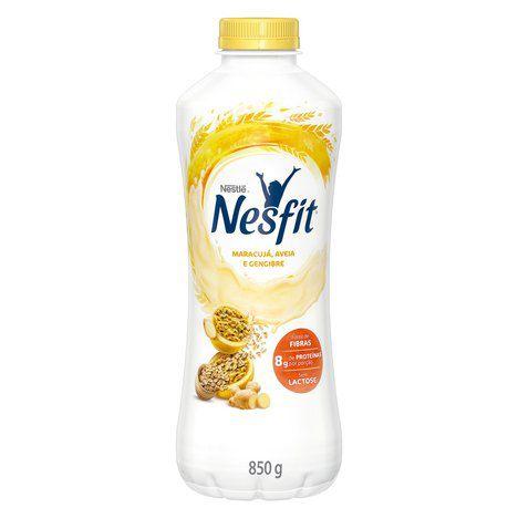 Iogurte Desnatado sem Lactose Nesfit Maracujá, Aveia e Gengibre 850g