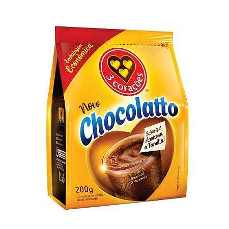Achocolatado em pó Chocolatto Três Corações 200g