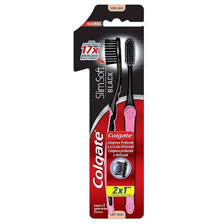 Escova Dental Colgate Slim Soft Black 2 un