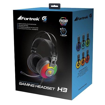 Fone de ouvido Fortrek H3 Pro RGB Gamer