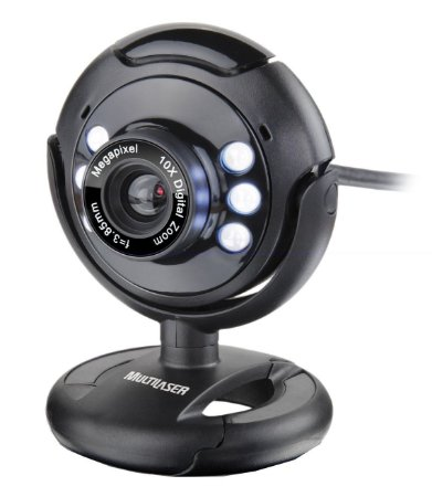 Webcam com microfone Multilaser USB