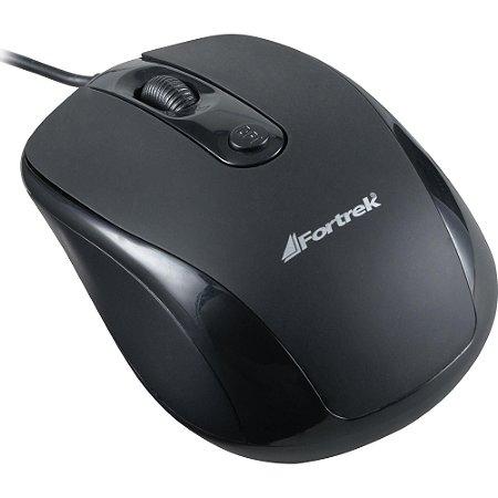 Mouse USB Fortrek 1000DPI 5 Botoes