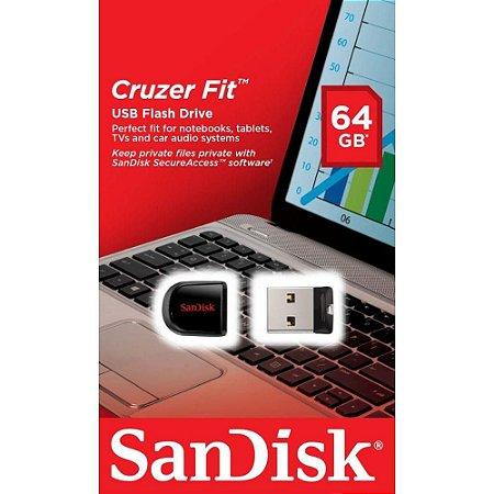 Pen Drive 64Gb mini SanDisk Cruzer Blade