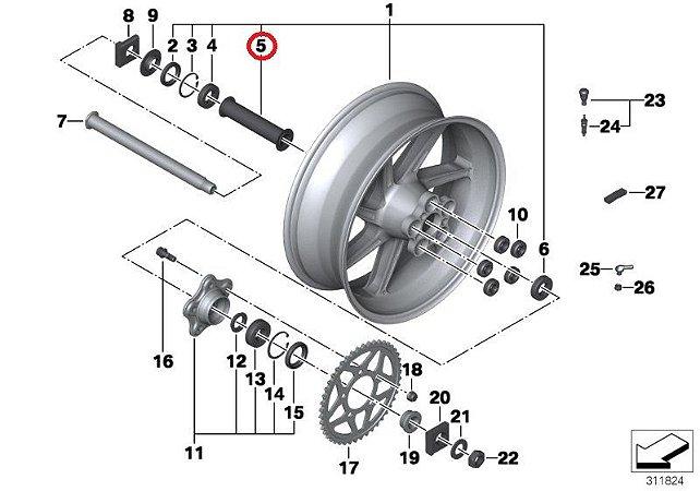 Espaçador da roda traseira (36318523716)