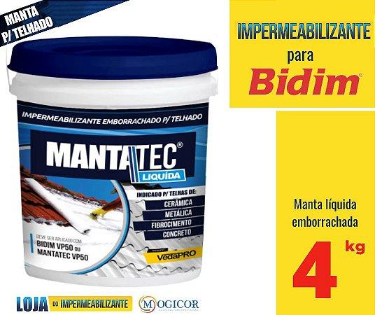 MANTA LIQUIDA 4kg IMPERMEABILIZANTE LAJE - ww.lojadoimpermeabilizante.com.br