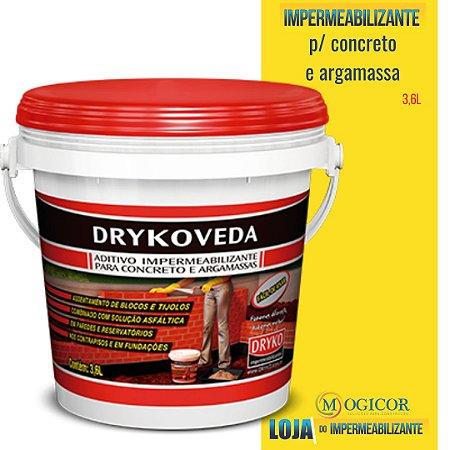 Drykoveda 1 3,6L - Aditivo Impermeabilizante DRYKO - www.lojadoimpermeabilizante.com.br