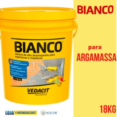 Bianco Líquido para Argamassa Chapisco Branco 18kg Vedacit - www.lojadoimpermeabilizante.com.br