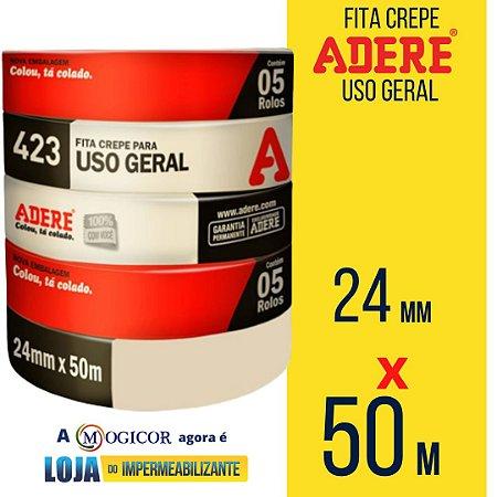 Fita Crepe Adere Tapefix Uso Geral 24mm X 50m 1UN - www.lojadoimpermeabilizante.com.br