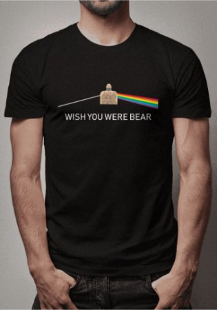 Camiseta Wish You Were Bear