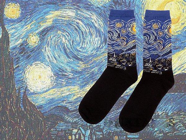 Meia Van Gogh | Noite Estrelada