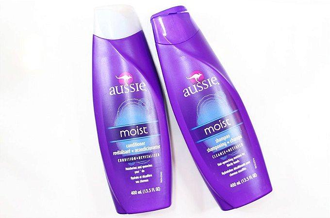 Kit Aussie Moist 2 produtos (Shampoo e Condicionador de 400ml cada)