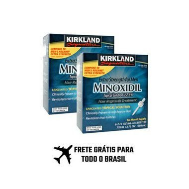 Minoxidil Kirkland - 02 Caixas com 06 Frascos (12 meses de tratamento) - IMPORTADOS DOS ESTADOS UNIDOS E FRETE GRÁTIS PARA TODO BRASIL.