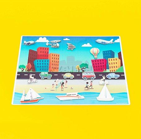 Cenário Urbano com Praia