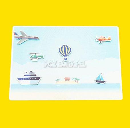 Cenário Meios de Transporte Aquático e Aéreo