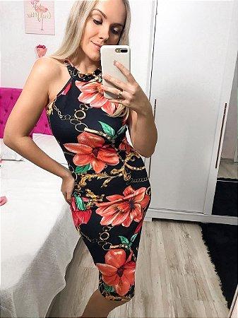 03933f7b4 Vestido Midi Floral - Lazilly Store - Moda Feminina