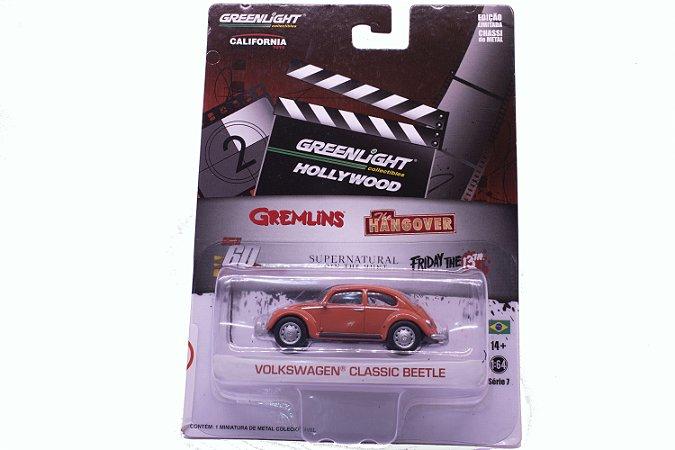 Volkswagen Fusca (Beetle) Filme Gremlins Laranja - California Collectibles - Greenlight 1:64