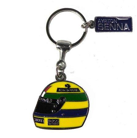 Chaveiro Capacete Ayrton Senna