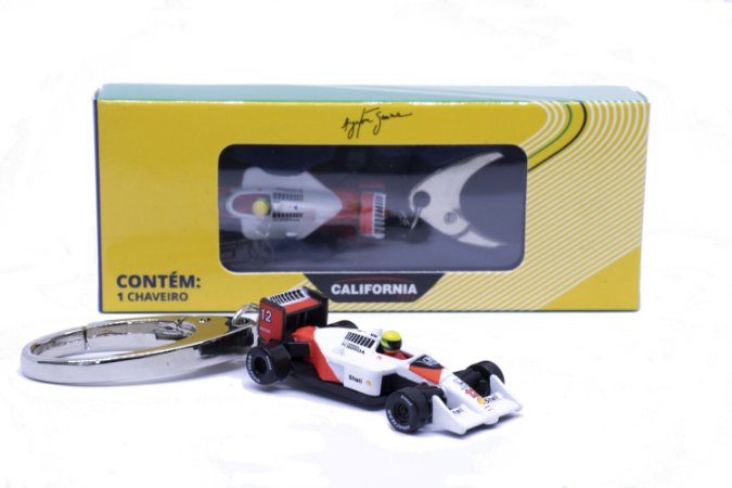 Chaveiro Ayrton Senna 1988 McLaren MP4/4