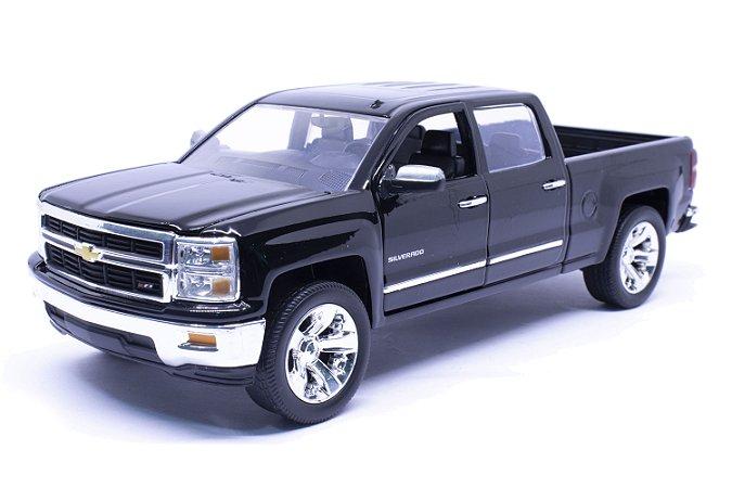 Chevy Silverado 2014 Preta - Jada 1:24