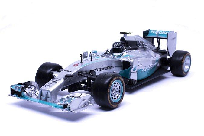 Formula 1 Mercedes Benz W05 Hybrid Controle Remoto (RC) - AMG Petronas - #6 Nico Rosberg (2014) - Maisto 1:24