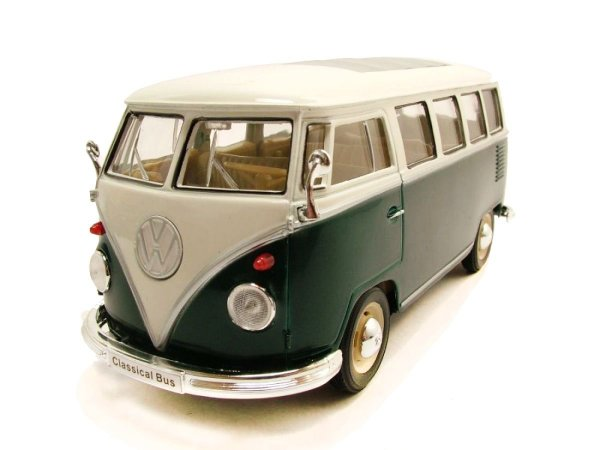 Volkswagen T1 Bus / Kombi (1963) Verde - Welly 1:24