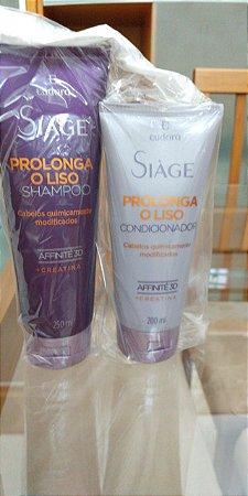 Shampoo e Condicionador Siàge Prolonga o Liso Eudora