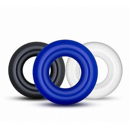 POWER PLUS - Kit de Anéis Penianos Coloridos   Medida Interna: 1,6 cm - 1311