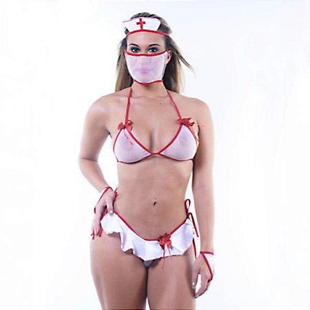 FANTASIA MINI ENFERMEIRA - Le Rouge - FF576