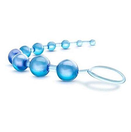 ANAL BEADS - Com 8 Bolinhas   Cor: Azul