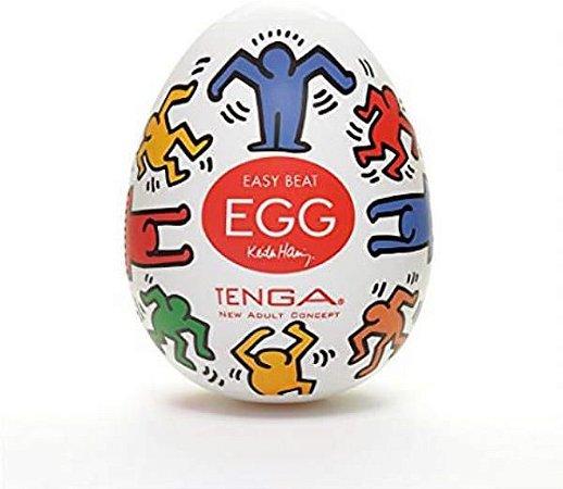TENGA EGG KEITH HARTTING - Ovinho Masturbador Masculino Original Tenga | Textura: Personalizada - KHE002