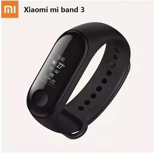 smartband xiaomi mi band 3 pulseira preta