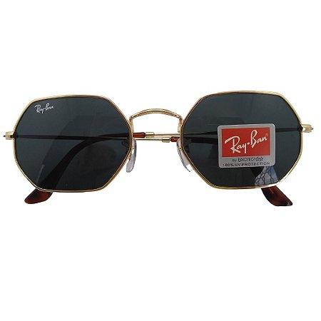 Óculos de sol Ray-Ban Octogonal Classic 53mm modelo RB3556