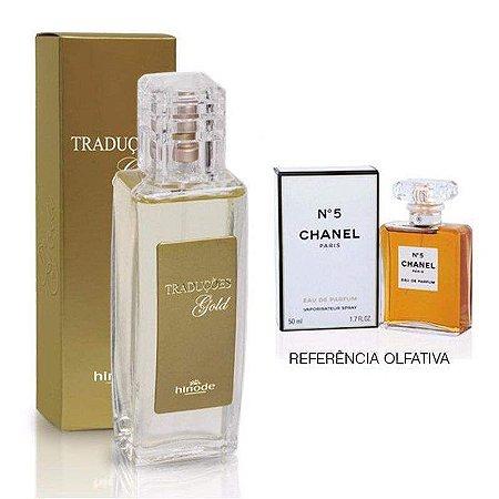 Perfume Feminino Hinode Traduções Gold nº5 (Fragrancia Do Chanel 5 - Chanel) 100Ml