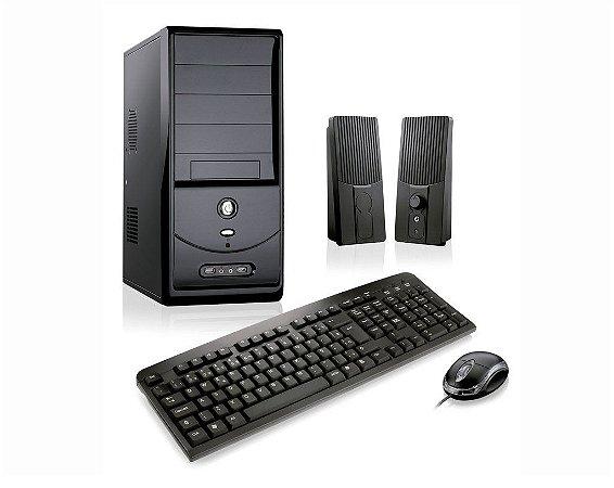 Micro Desktop Celeron placa-mãe integrada, HD 1 TB, Mem 4 GB, Mon Led 18 pol.