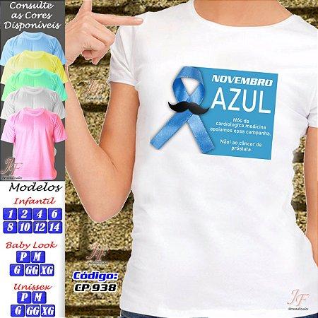 01 Camiseta Adulto Infantil Personalizada Novembro Azul