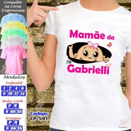 01 Camiseta Personalizada Adulto Infantil Chá de Bebê