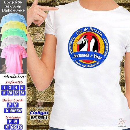 01 Camiseta Chá Bar New Game Chá Dos Noivos Personalizada