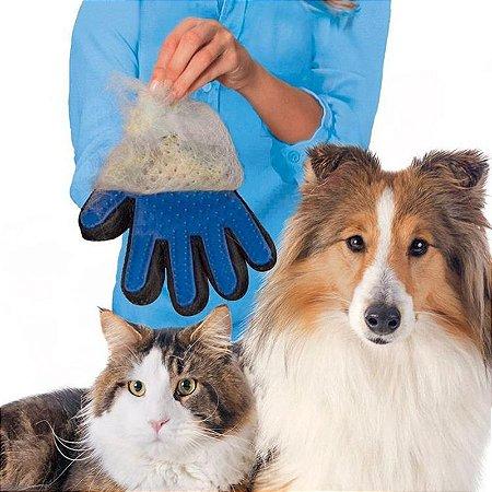 Luva Magictouch Tira Pelos Pet Cães E Gatos, Massageia.