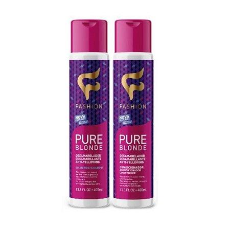 Kit Shampoo e Condicionador Desamarelador Fashion 800ml