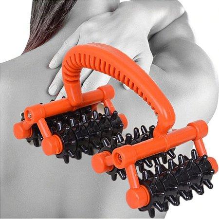 Rolo Massageador Pescoco Coluna Cintura Perna Tipo Carrinho
