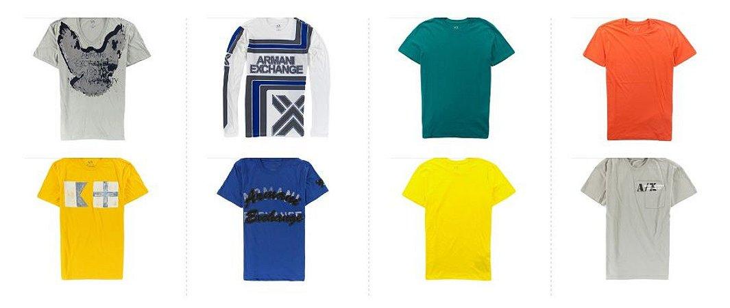 Kit Sortido 20 Camisetas Armani Exchange Masculinas - Tamanhos Variados