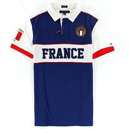 Polo Tommy Hilfiger Masculina France World Edition - Blue
