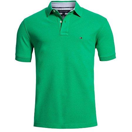 Polo Tommy Hilfiger Masculina Custom Fit - Green