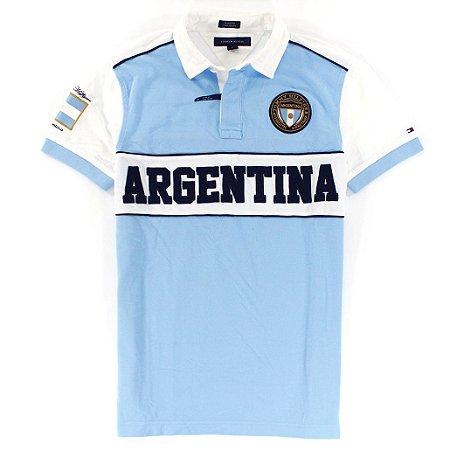 Polo Tommy Hilfiger Masculina Argentina World Edition - Light Blue