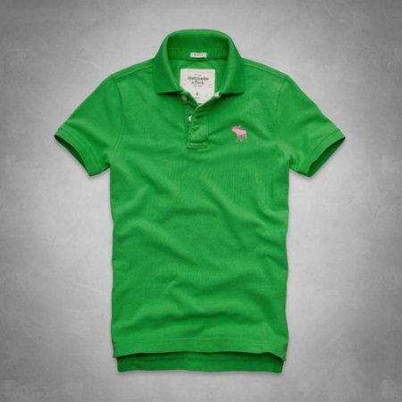 Polo Abercrombie & Fitch Masculina Baker Mountain - Green and Pink