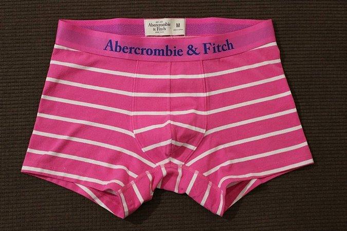 Cueca Abercrombie & Fitch Masculina Hopkins Trail Boxer - Pink Stripes