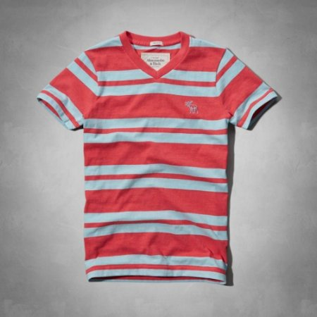 Camiseta Abercrombie & Fitch Masculina Algoquin Tee - Red Stripe