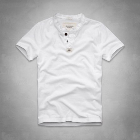 Camiseta Abercrombie & Fitch Masculina Connery Pond Henley - White
