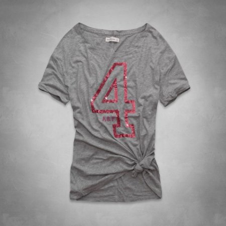 Camiseta Abercrombie & Fitch Feminina Camille Shine Tee - Heather Grey